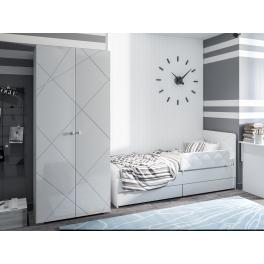 """Кровать с ограничителем и ящиками 800 """"Абрис"""""""