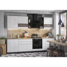 """Кухня """"Бруклин"""" Венге/Белый бетон 2,8 м"""